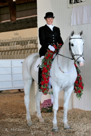 Proper positioning classical dressage training